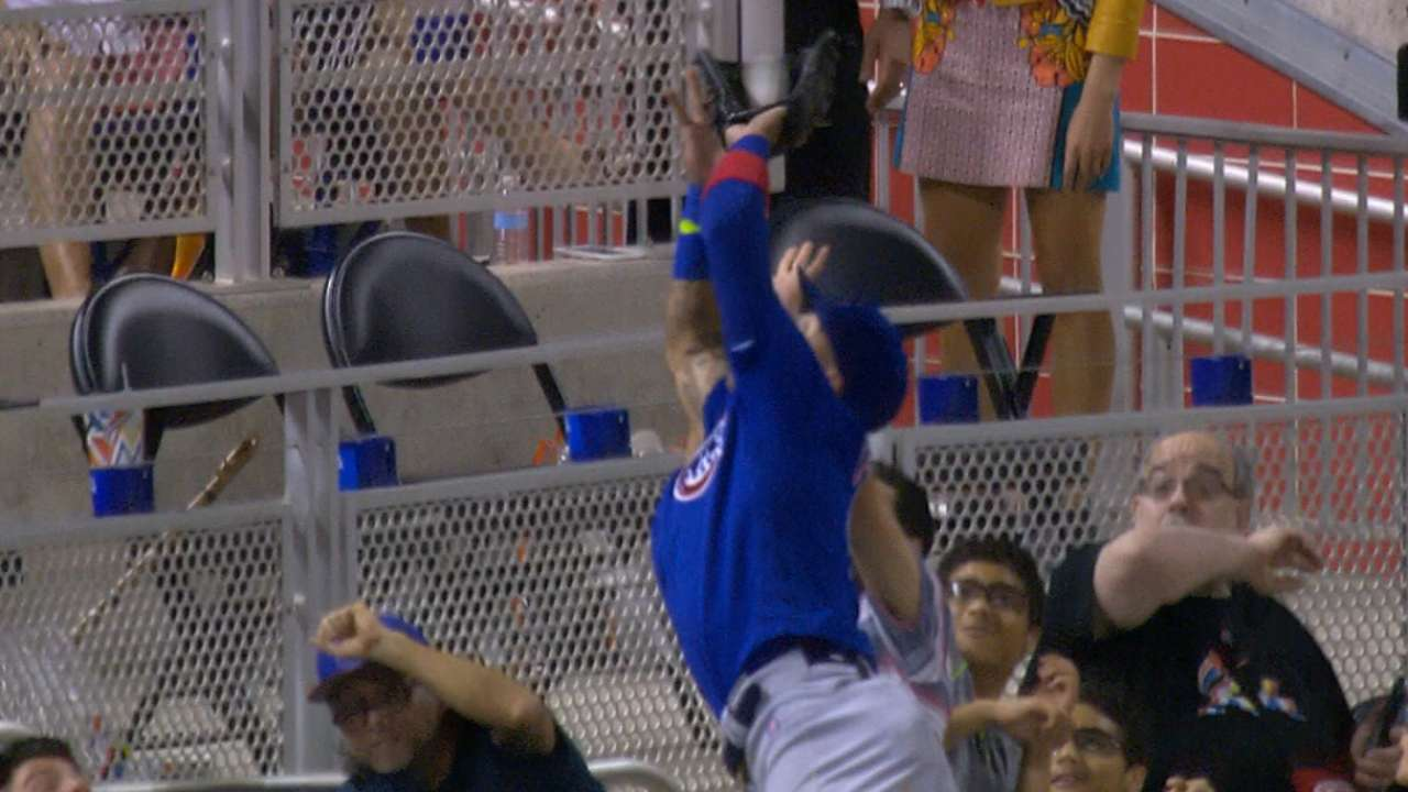Must C: Baez dives into stands