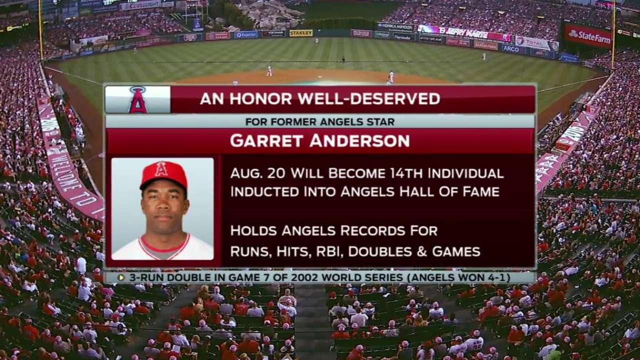 Angels HOF induction shines spotlight on Anderson