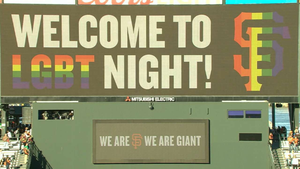 Giants use LGBT Night to help Orlando victims