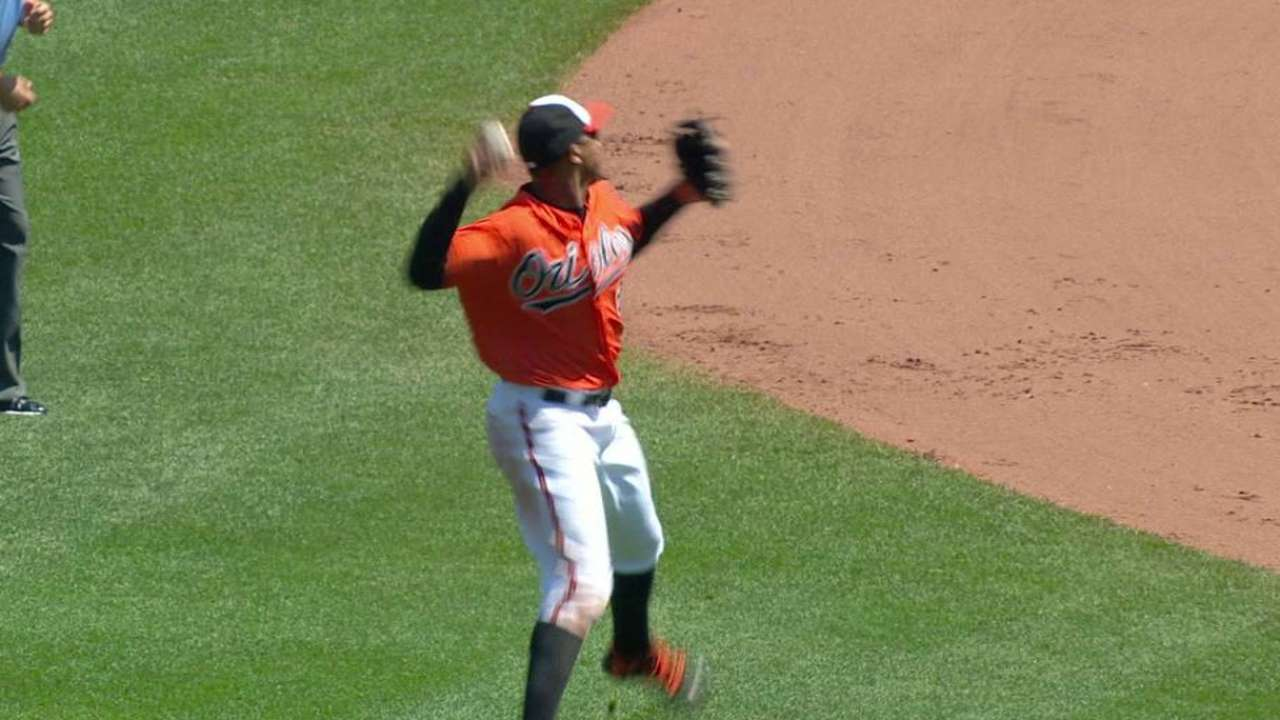 Schoop joins Gold Glovers on highlight reel