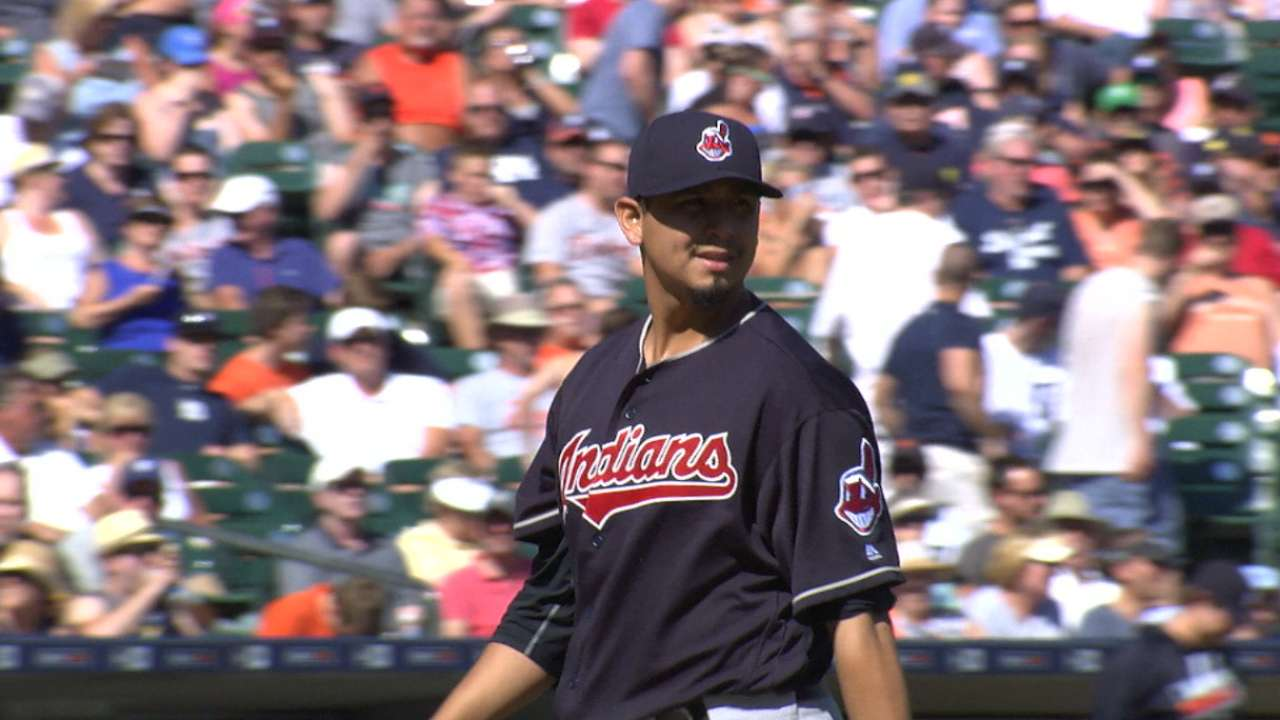 Carrasco's four-hit shutout