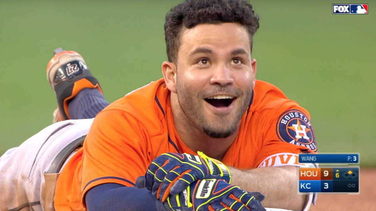 Altuve trips going for cycle