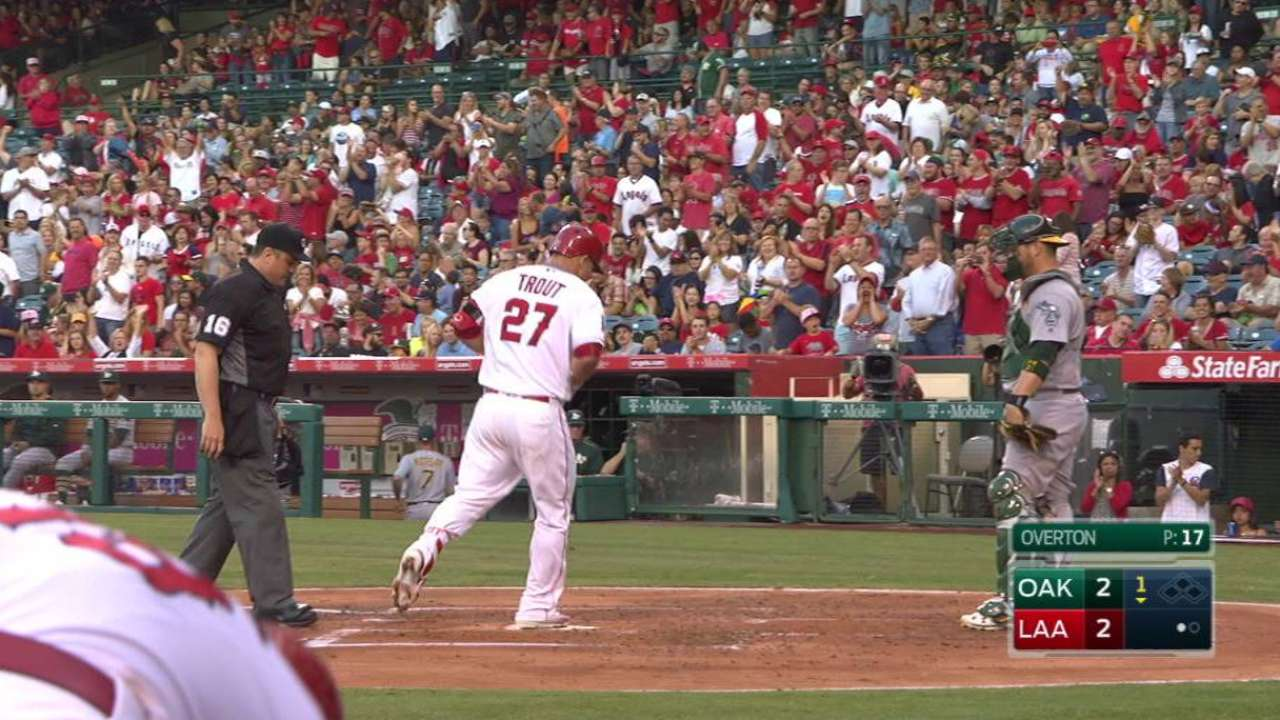 Trout's solo big fly