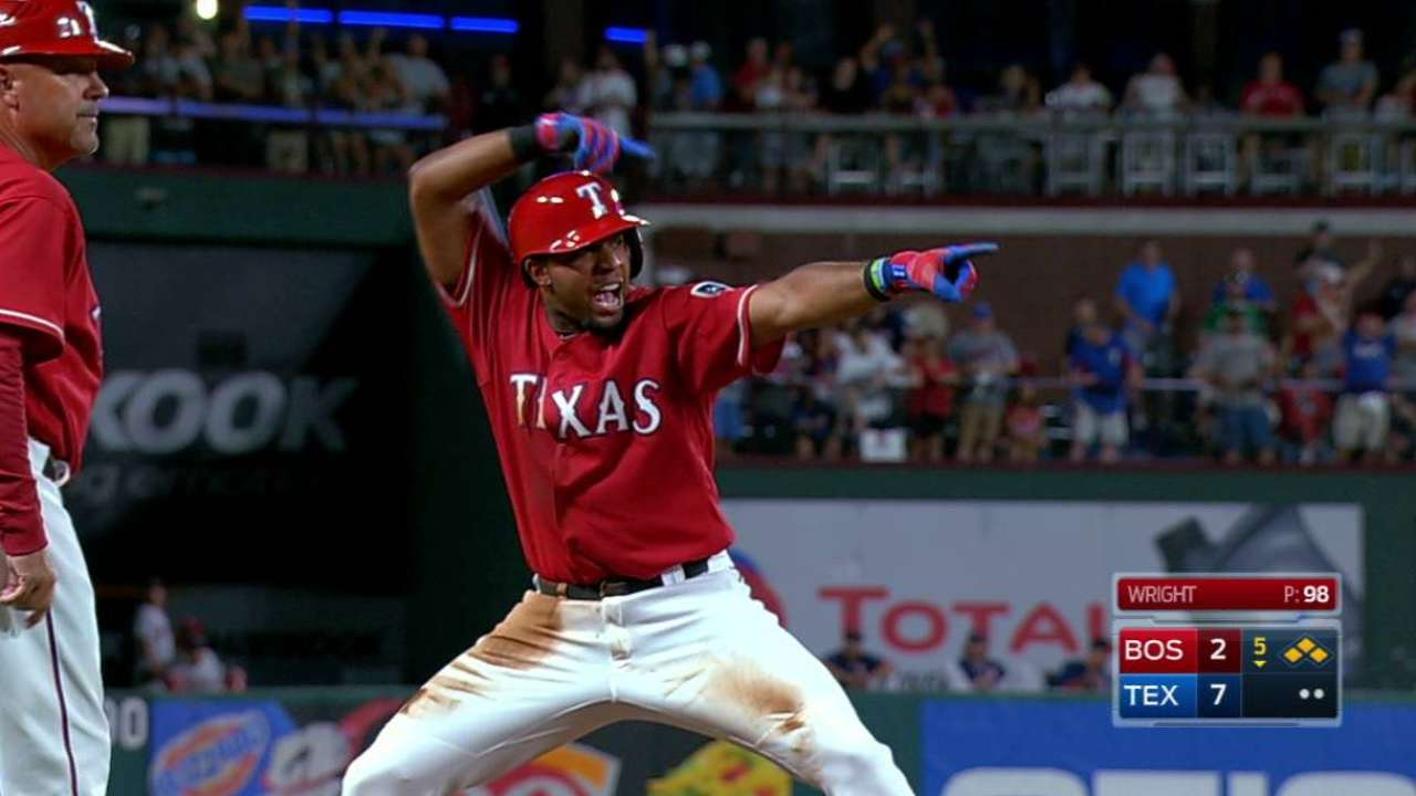 Andrus' bases-clearing triple