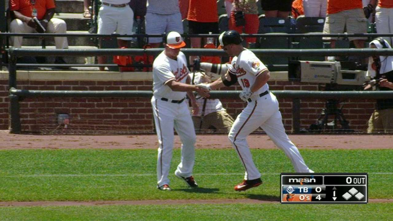 Davis' slam sets tone for O's big offensive day