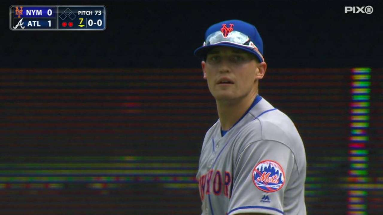 Nimmo grabs fly ball in debut