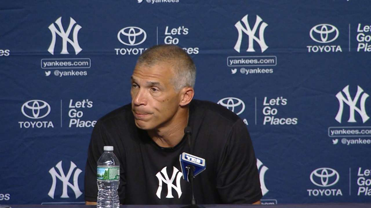 Girardi in a 7-1 loss to Twins