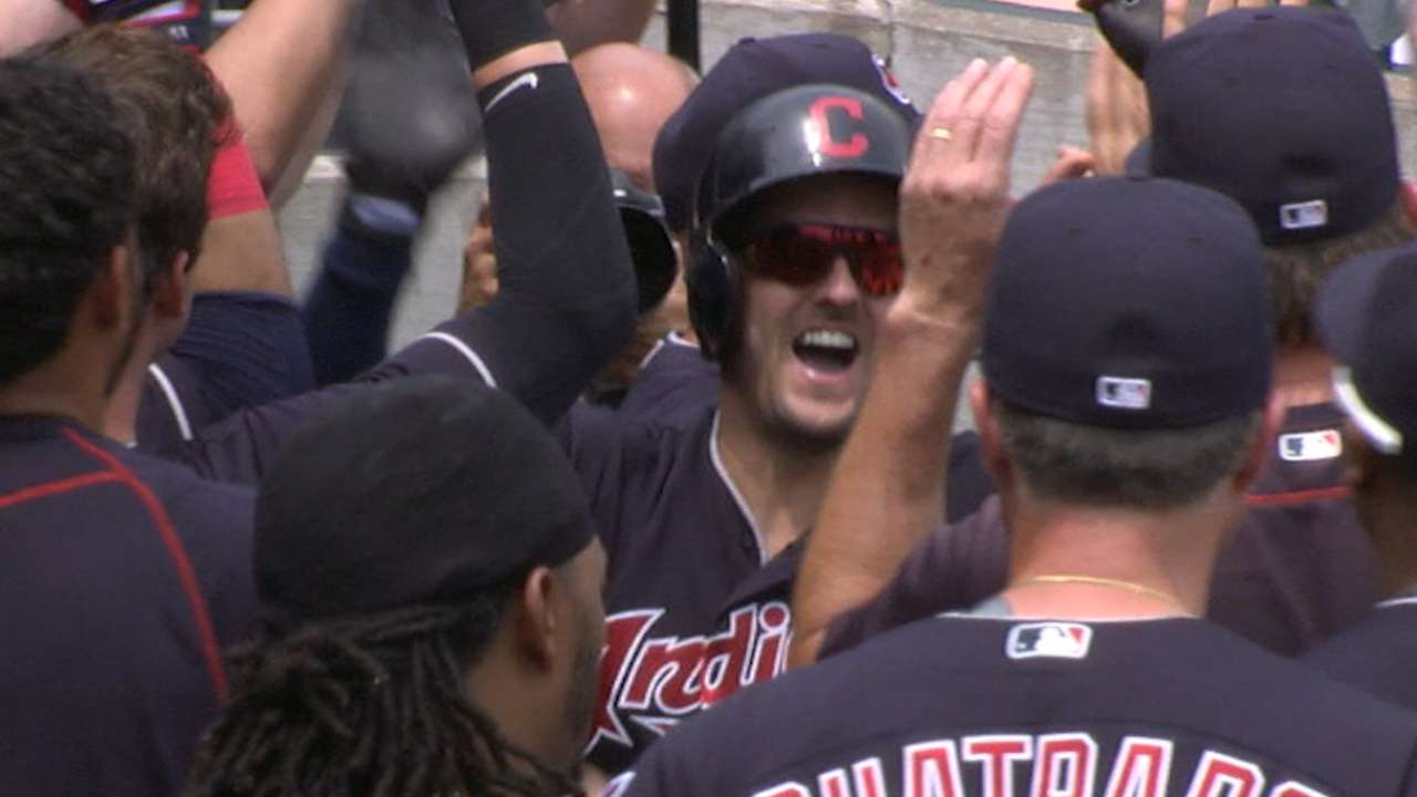 Tribe's 9th straight W powered by 4-HR 5th