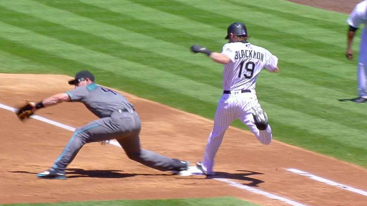 Blackmon collects single
