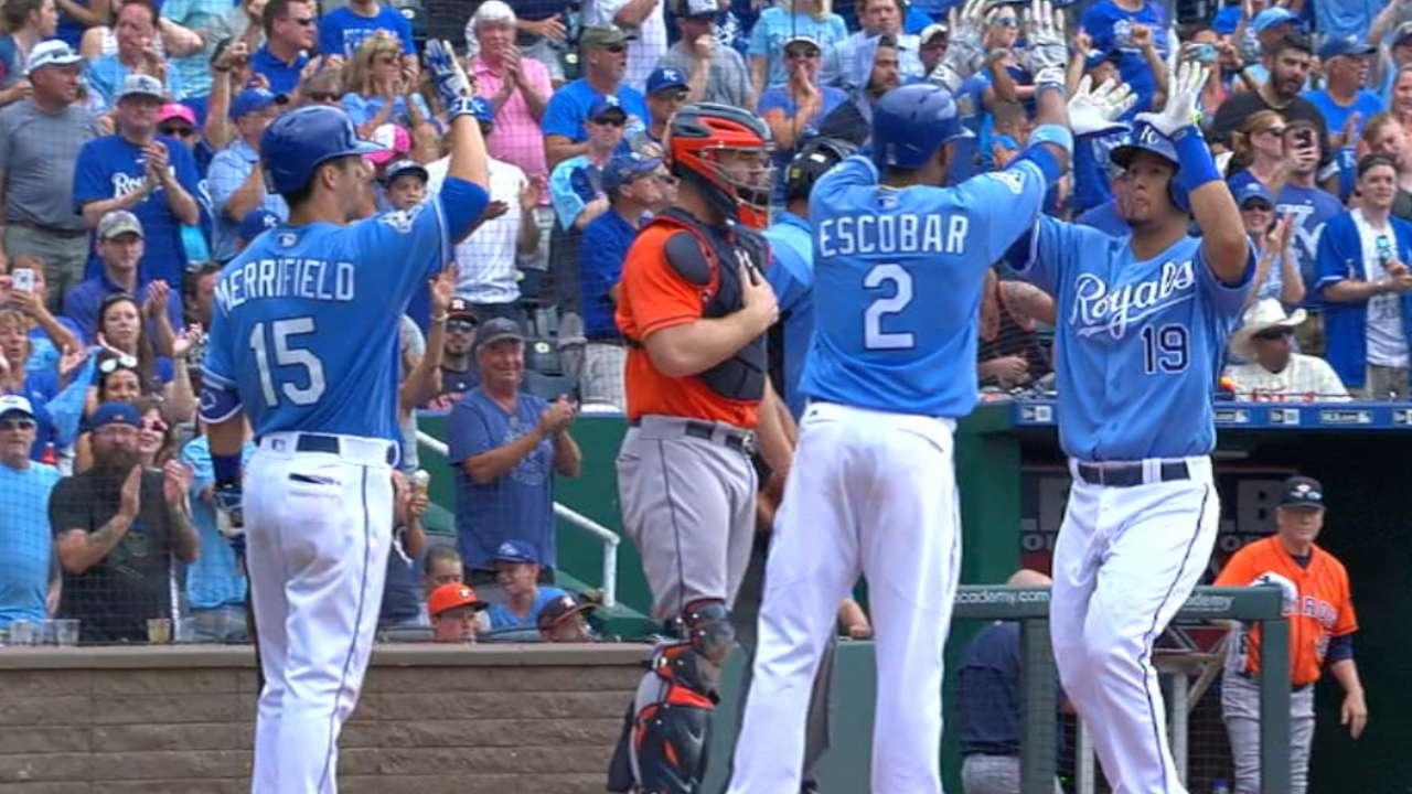 Royals' five-run 7th inning