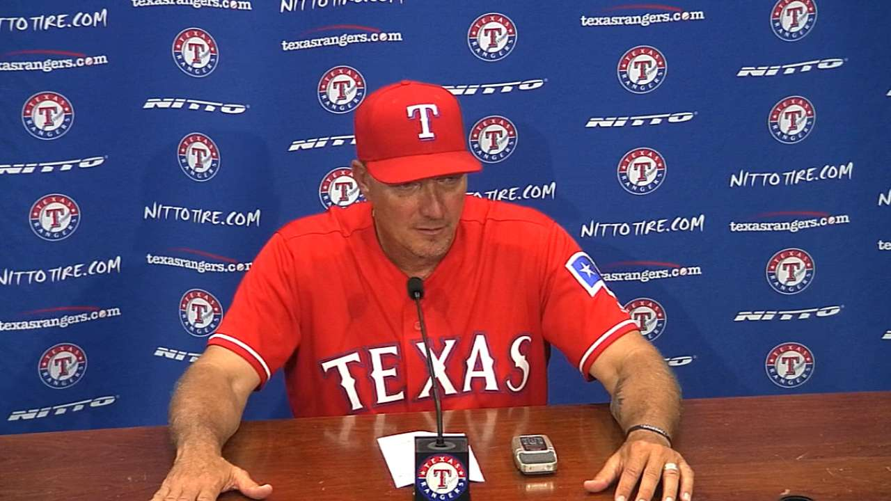 Banister on the Rangers' win