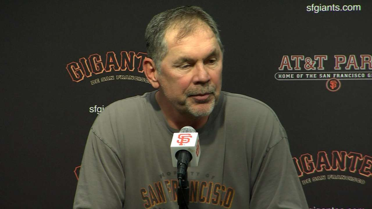 Bochy talks about his 800th win