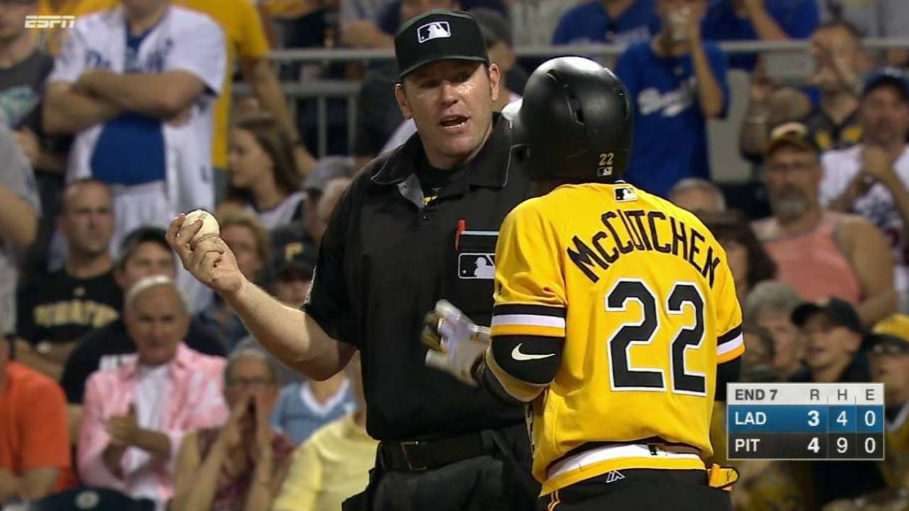 Hurdle weighs in on McCutchen's first ejection
