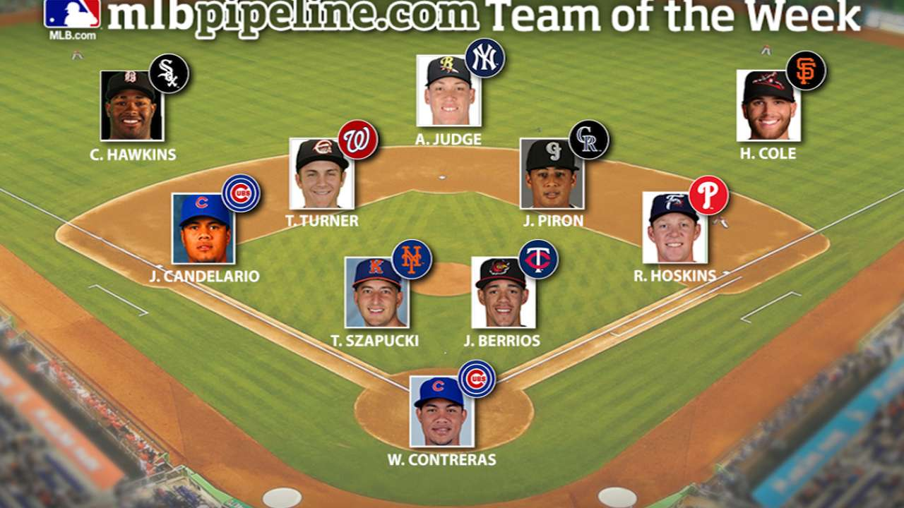 Yanks' Judge leads Prospect Team of the Week