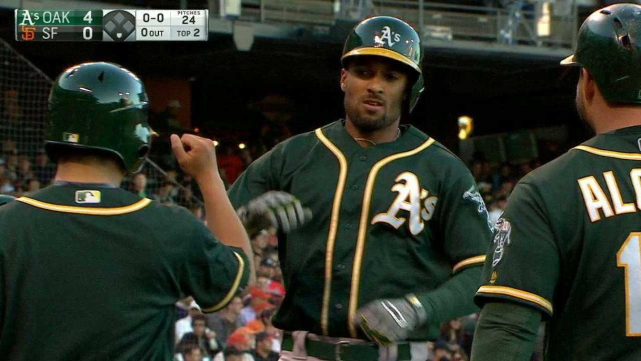 Semien's three-run home run