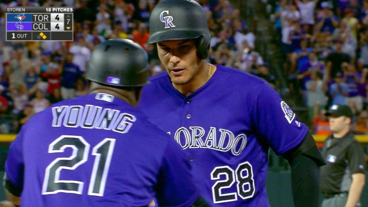 Rox ride 6-run inning to spoil Tulo's return