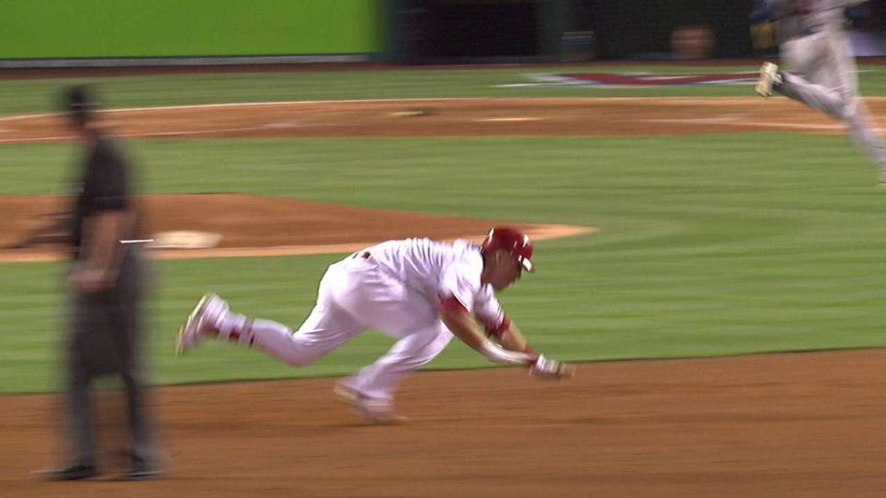 Top GIFs: Trout with a trip, not a triple