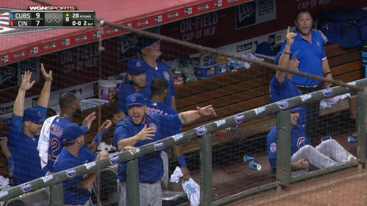 Cubs launch five homers