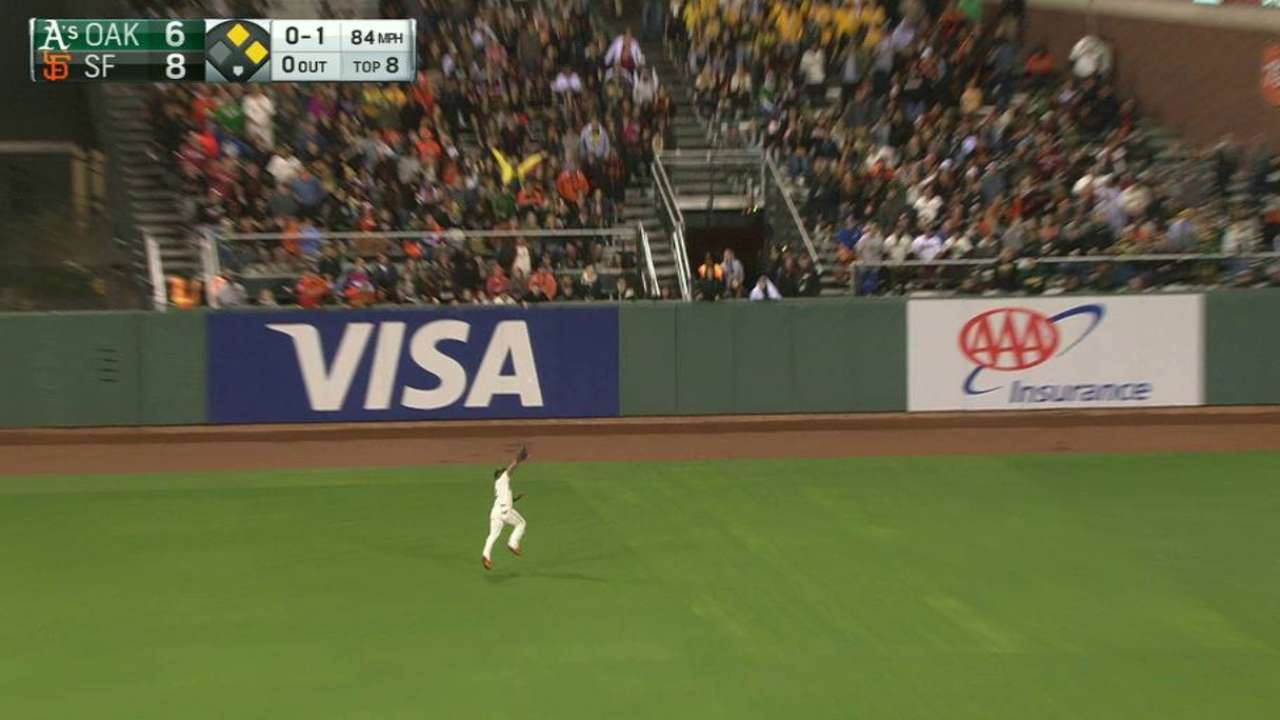 Span's great leaping grab