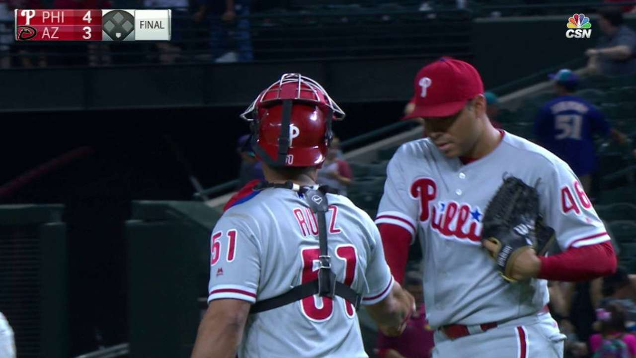 Gomez notches the save