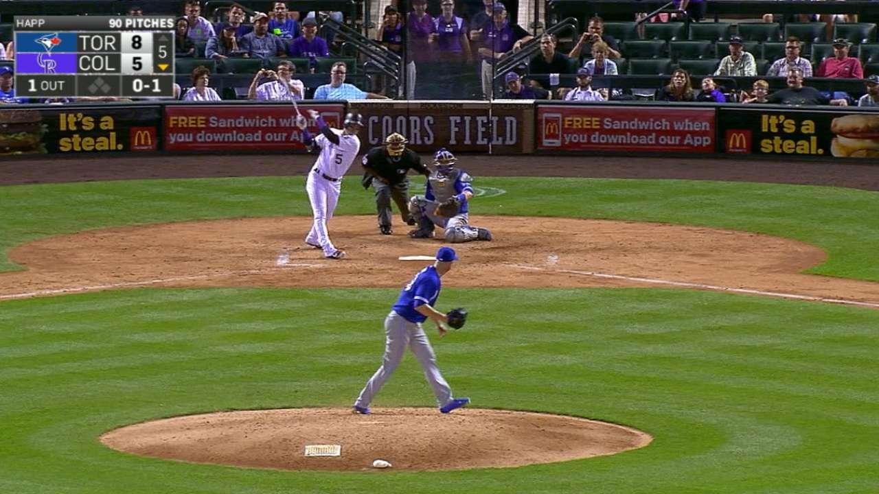 CarGo's four-hit game