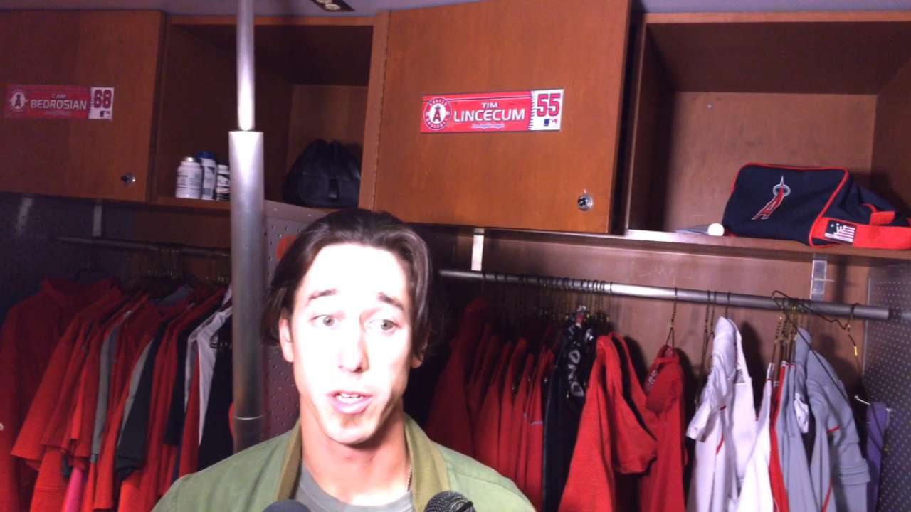 Lincecum on loss to Astros