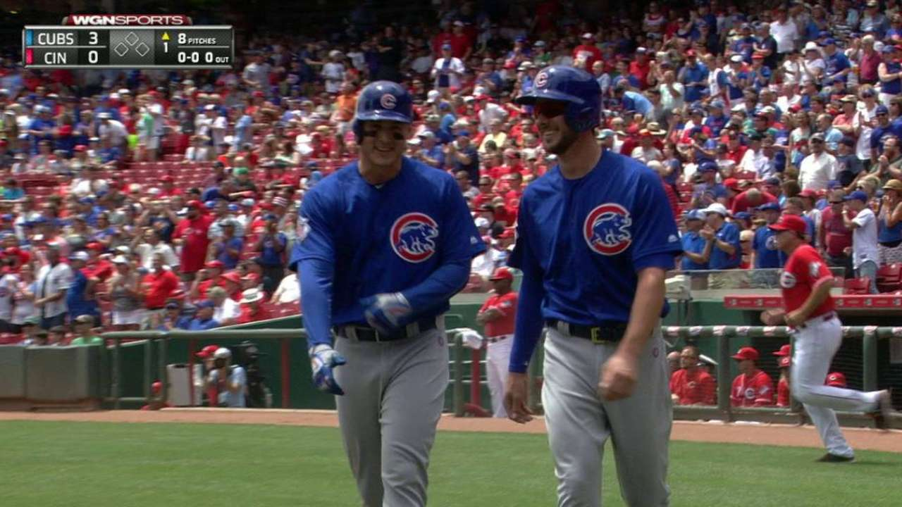 Cubs start fast, rip 3 HRs to sweep away Reds