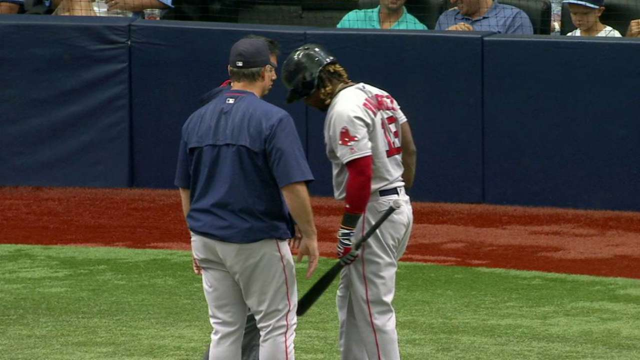 Hanley leaves with an injury