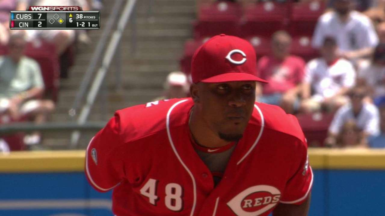 Reds recall Sampson, option Hoover to Triple-A