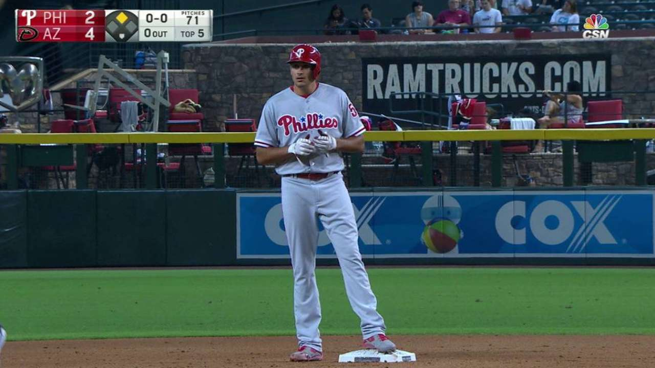 Eflin's first career hit