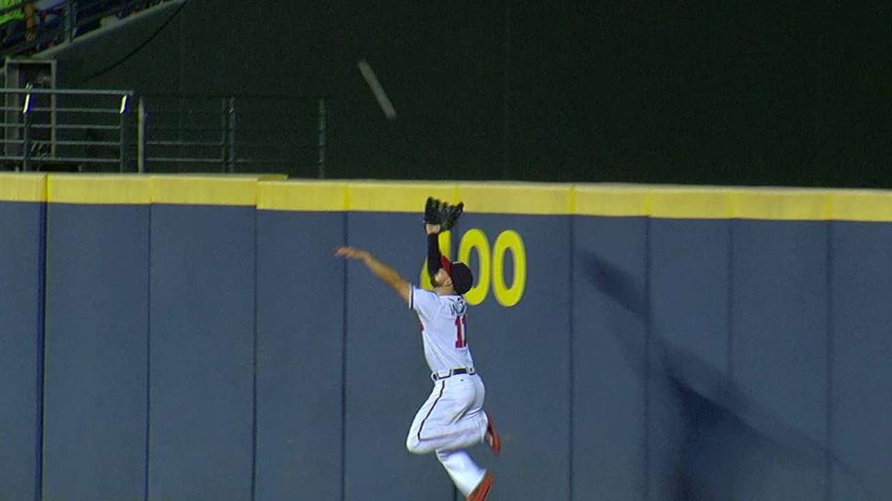 Inciarte's leaping catch