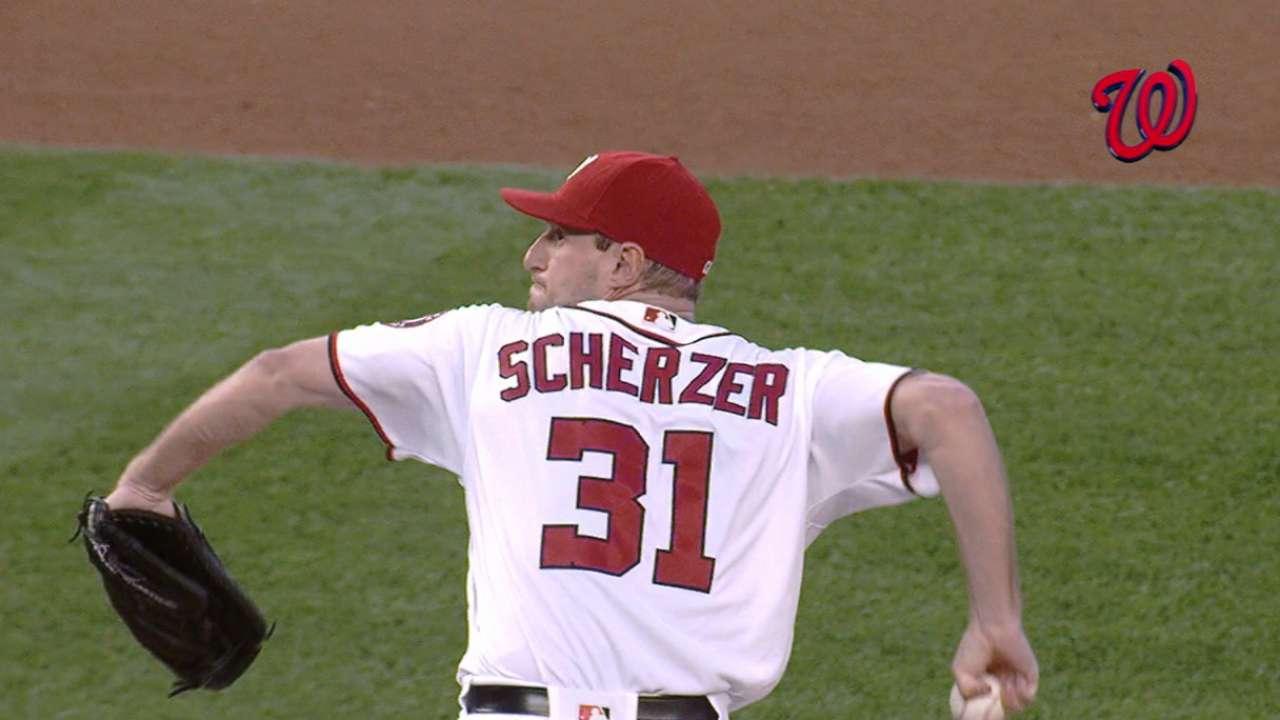 Sweep to the Max! Scherzer K's 10 to erase Mets
