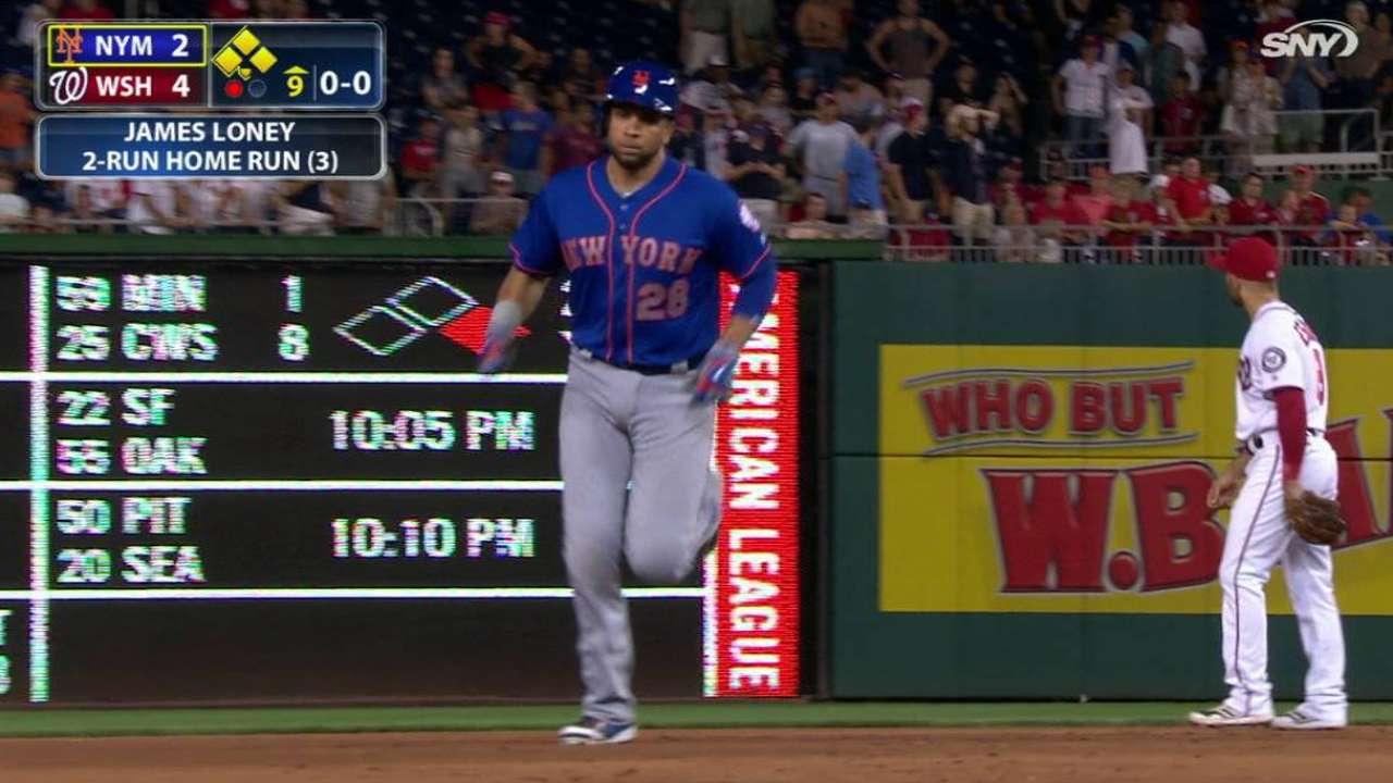 Reacción de Mets no alcanzó para evitar derrota ante Nacionales