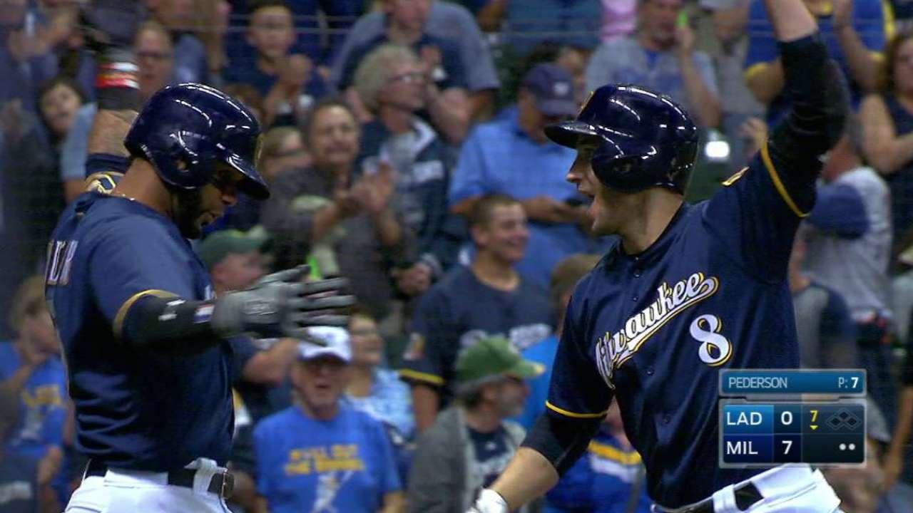 Guerra shuts down Dodgers as Braun surges