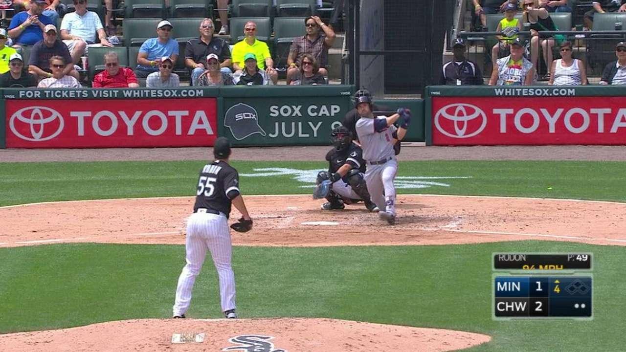 Dozier's jack extends streak