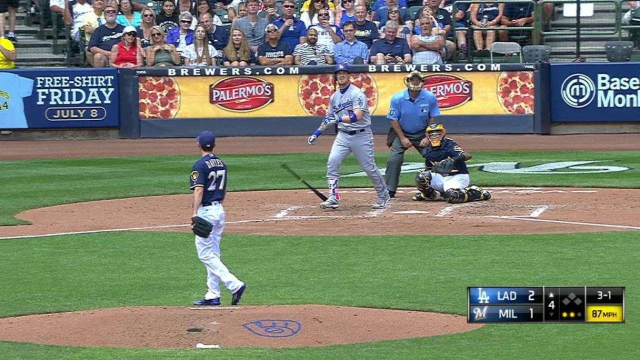 Maeda, jonrones de Dodgers fueron ley en Milwaukee