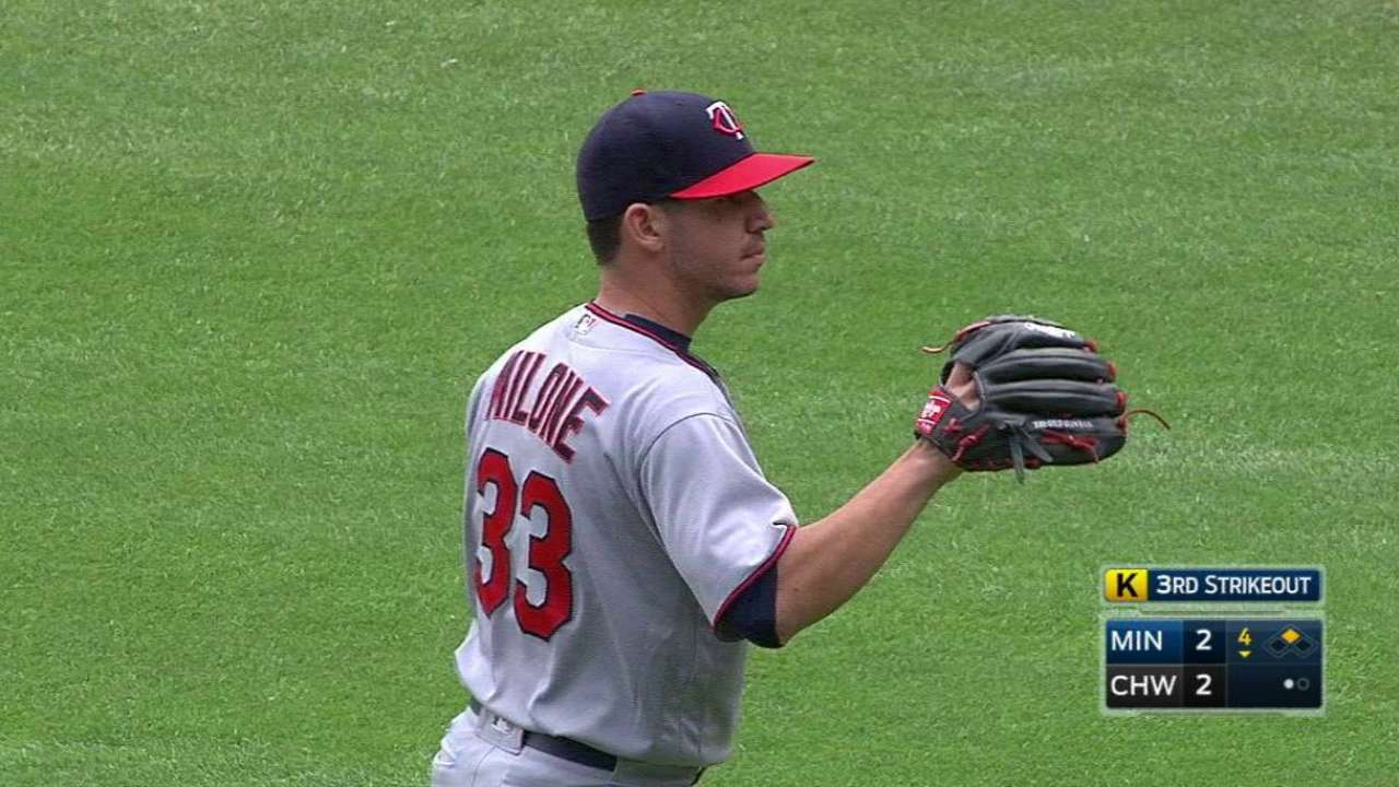 Milone can't carry Minors success into Twins starts