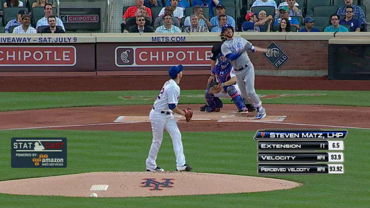 Bryant's tear continues with HR in 1st off Matz