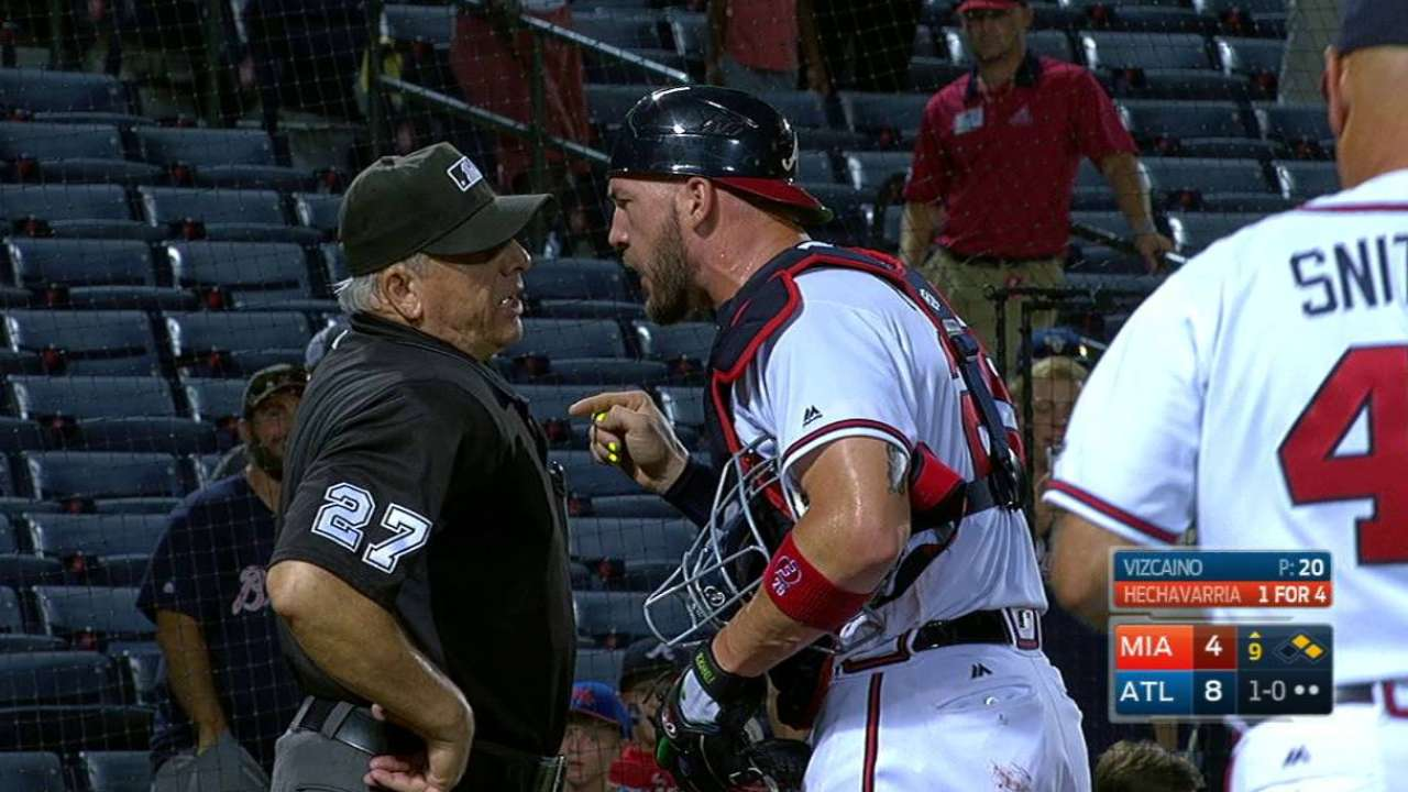 Flowers is ejected for arguing