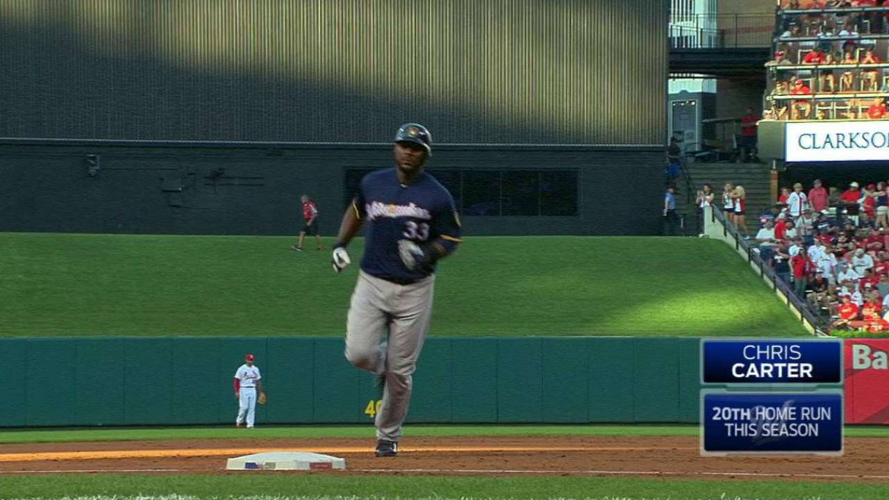 Carter's 20th home run