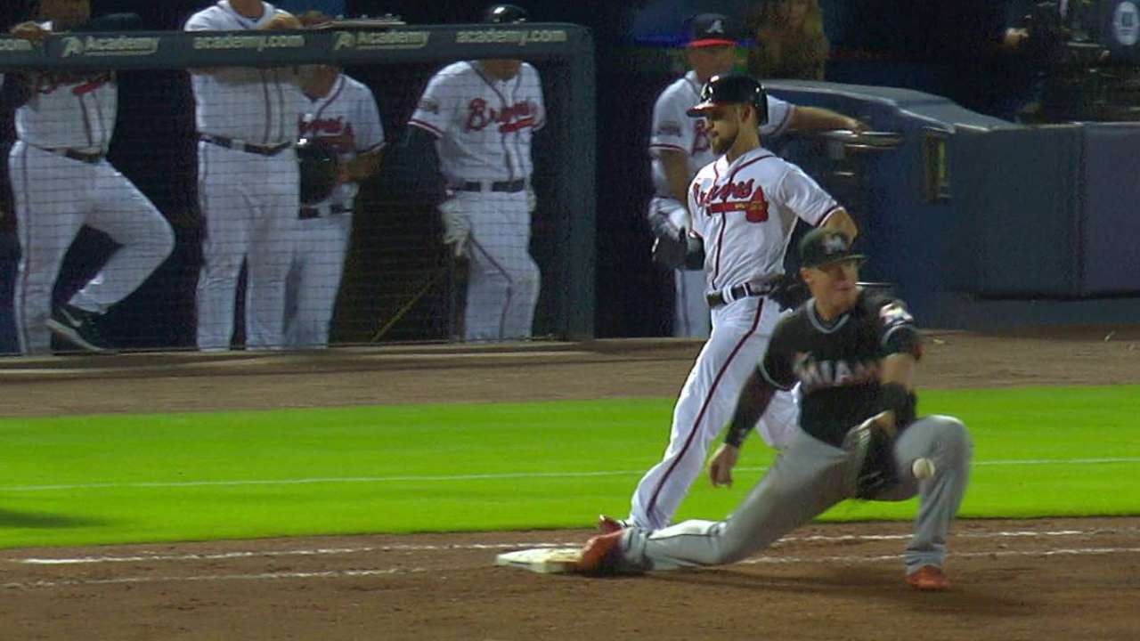 Inciarte safe at first