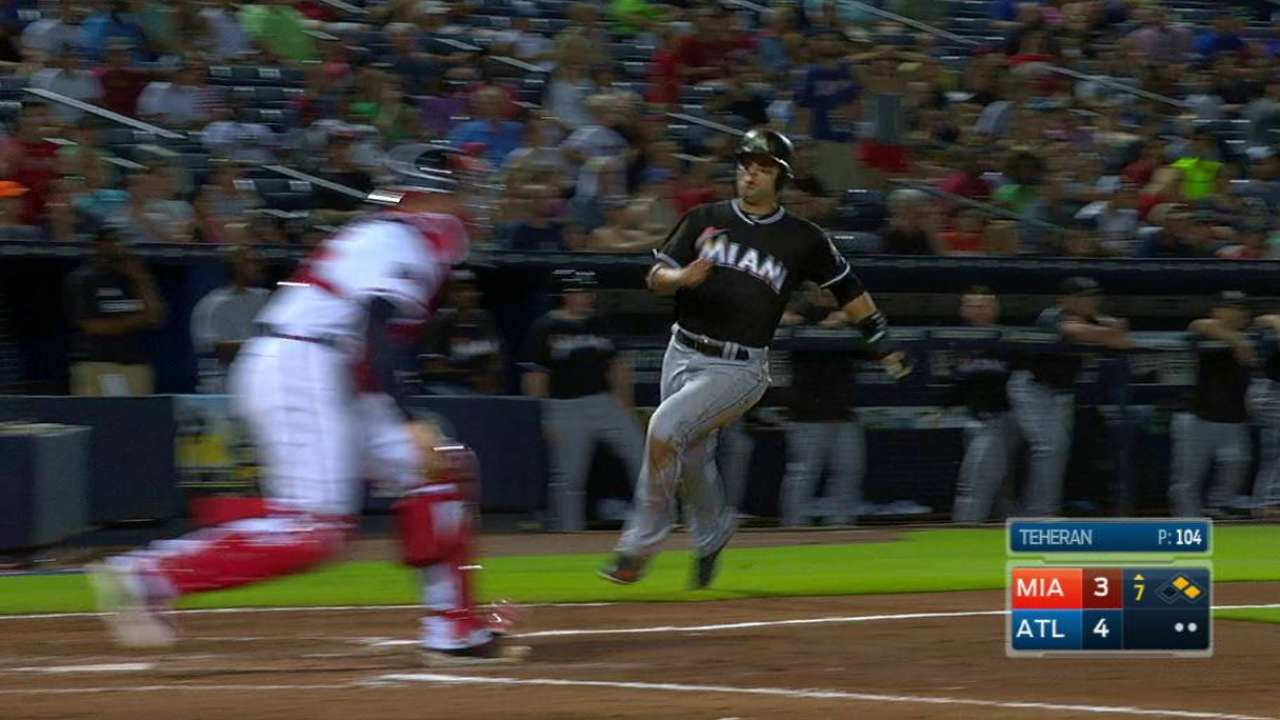 Jose knocks game-winner as Marlins beat Braves in extras
