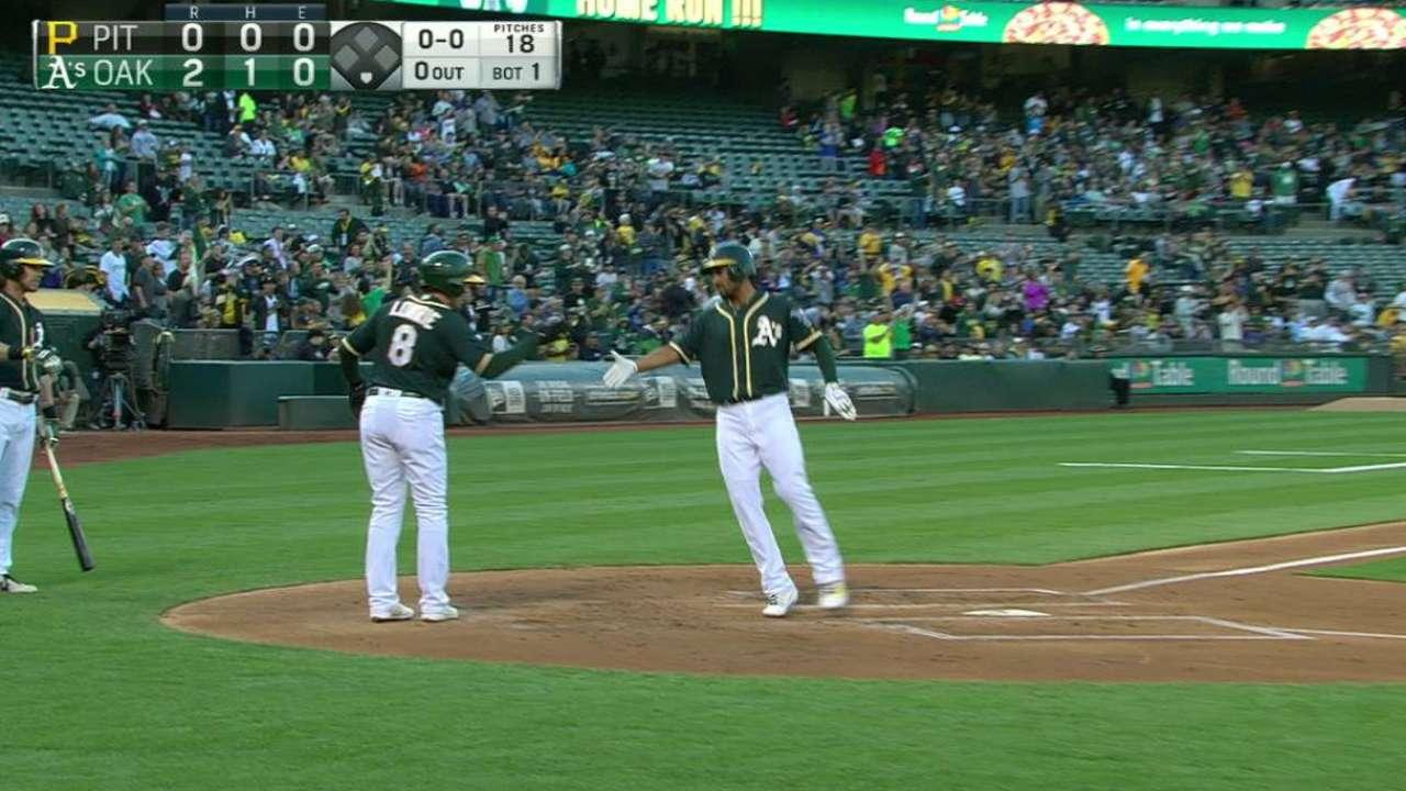 Semien's two-run homer