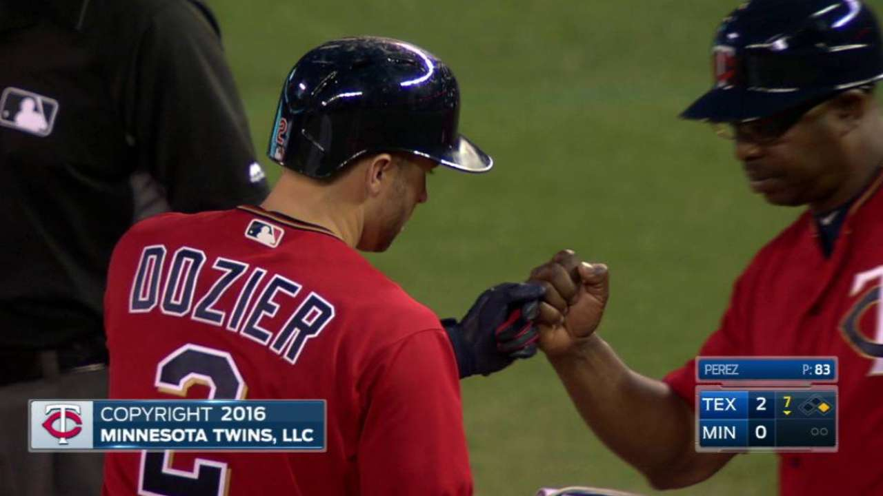 Dozier extends hitting streak