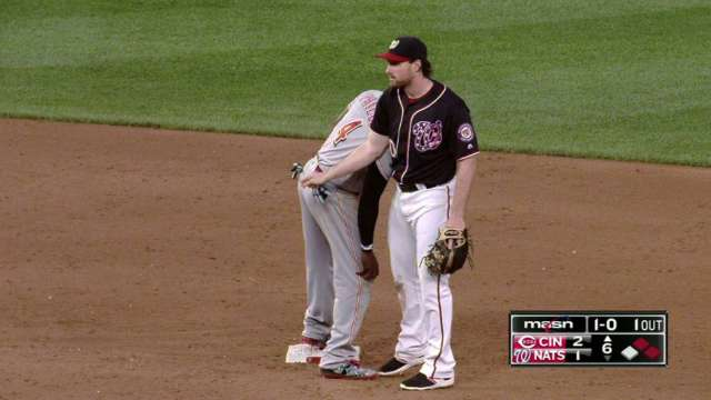 Daniel Murphy collected his toll at second base in the form of ...