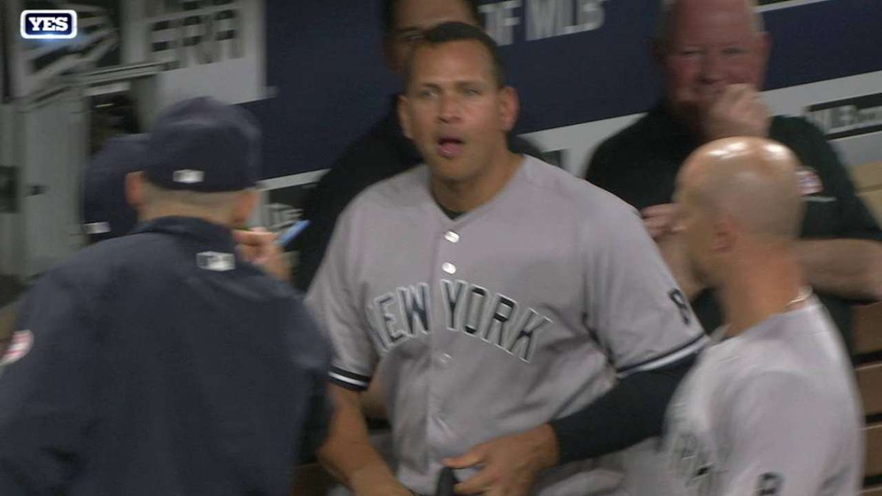 A-Rod nearly makes '16 debut on defense
