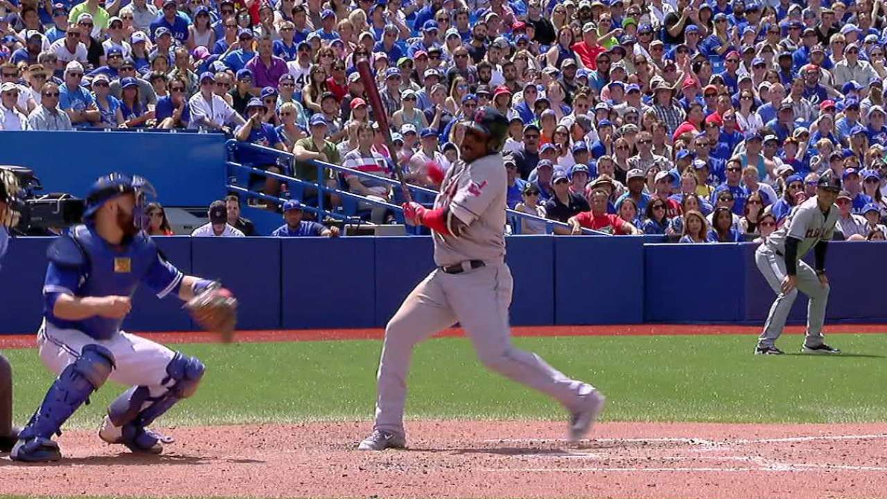 Uribe scratched with hand discomfort