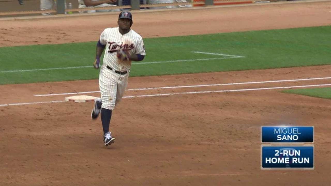 Sano's two-run homer