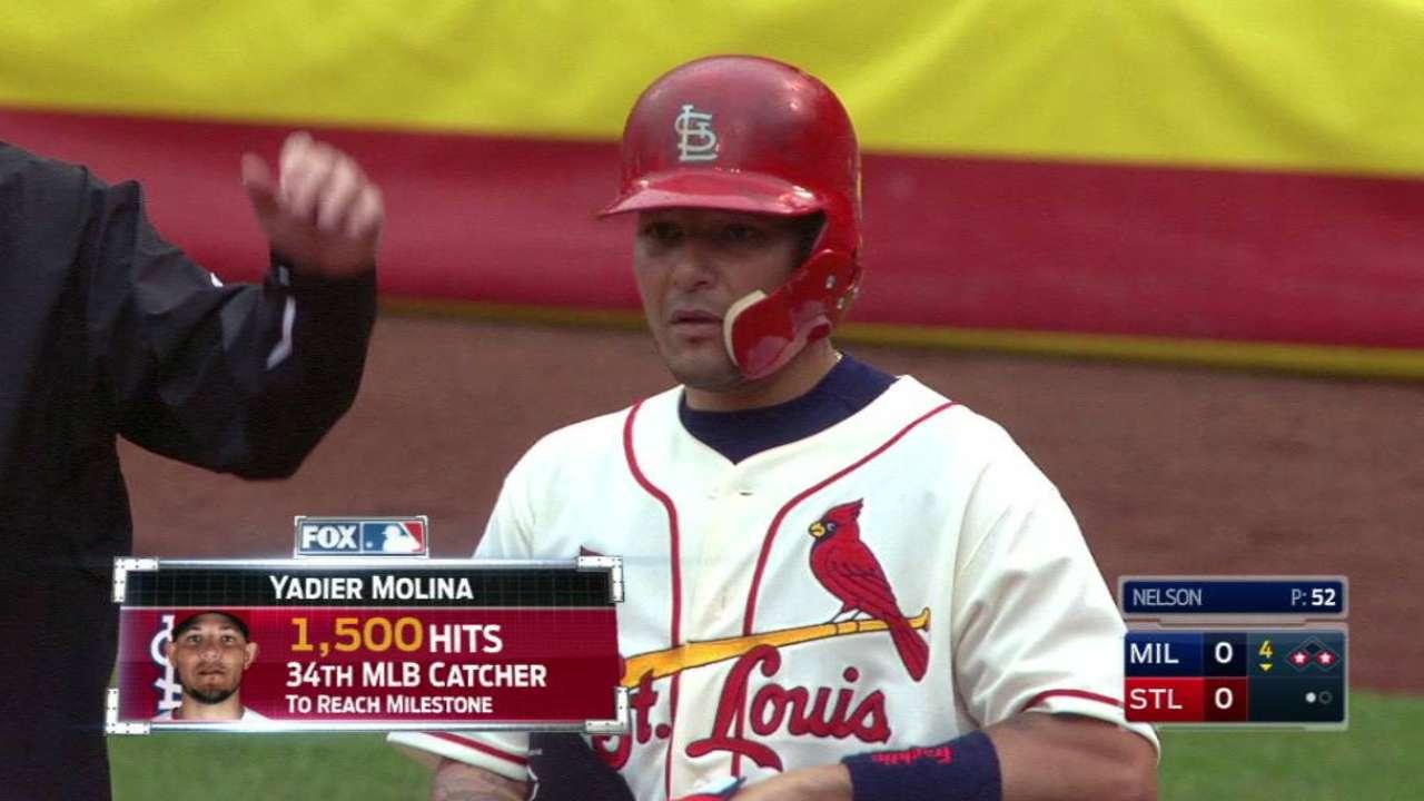 Molina's milestone hit