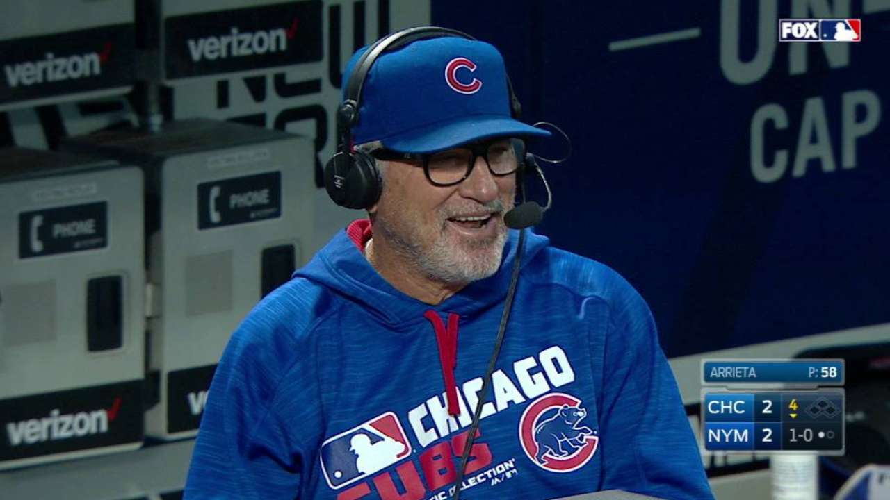 Maddon joins booth from dugout